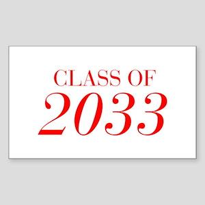 CLASS OF 2033-Bau red 501 Sticker