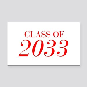 CLASS OF 2033-Bau red 501 Rectangle Car Magnet