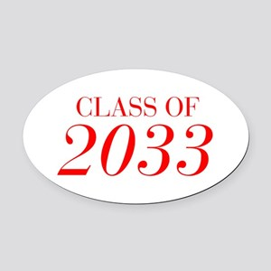 CLASS OF 2033-Bau red 501 Oval Car Magnet