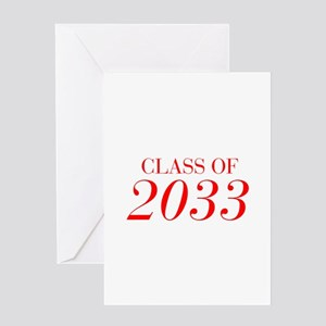 CLASS OF 2033-Bau red 501 Greeting Cards