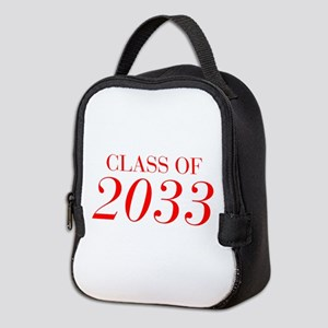 CLASS OF 2033-Bau red 501 Neoprene Lunch Bag
