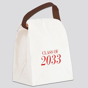 CLASS OF 2033-Bau red 501 Canvas Lunch Bag