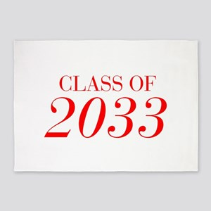 CLASS OF 2033-Bau red 501 5'x7'Area Rug