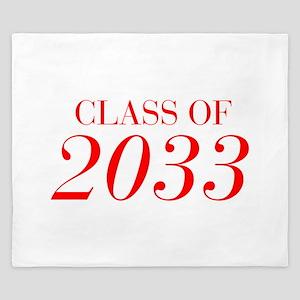 CLASS OF 2033-Bau red 501 King Duvet