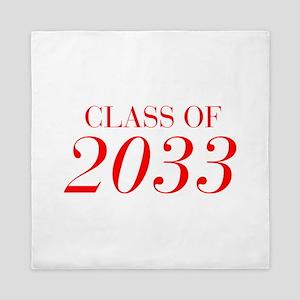 CLASS OF 2033-Bau red 501 Queen Duvet