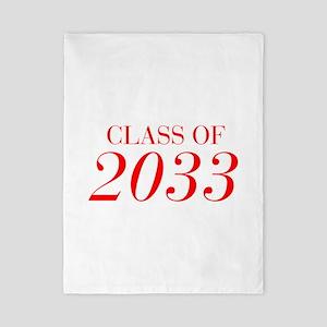 CLASS OF 2033-Bau red 501 Twin Duvet