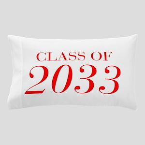 CLASS OF 2033-Bau red 501 Pillow Case