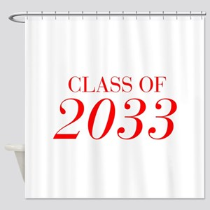 CLASS OF 2033-Bau red 501 Shower Curtain
