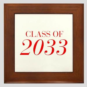 CLASS OF 2033-Bau red 501 Framed Tile