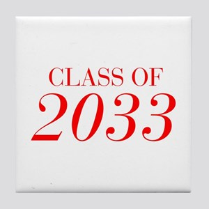 CLASS OF 2033-Bau red 501 Tile Coaster
