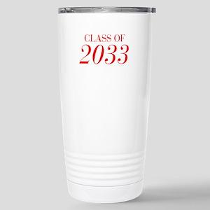 CLASS OF 2033-Bau red 501 Travel Mug