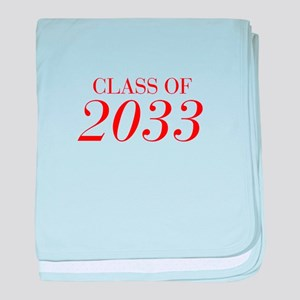 CLASS OF 2033-Bau red 501 baby blanket