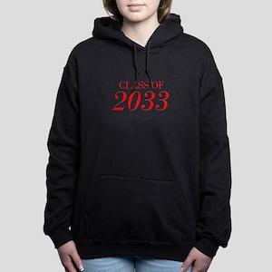 CLASS OF 2033-Bau red 501 Women's Hooded Sweatshir
