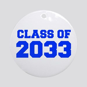 CLASS OF 2033-Fre blue 300 Ornament (Round)