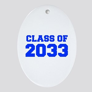 CLASS OF 2033-Fre blue 300 Ornament (Oval)