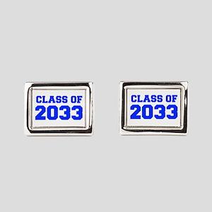 CLASS OF 2033-Fre blue 300 Rectangular Cufflinks