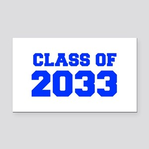 CLASS OF 2033-Fre blue 300 Rectangle Car Magnet