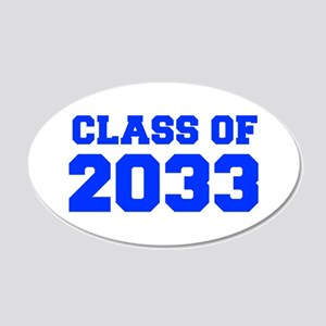 CLASS OF 2033-Fre blue 300 Wall Decal