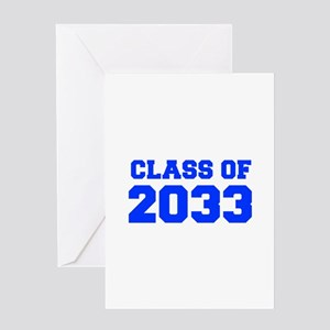 CLASS OF 2033-Fre blue 300 Greeting Cards
