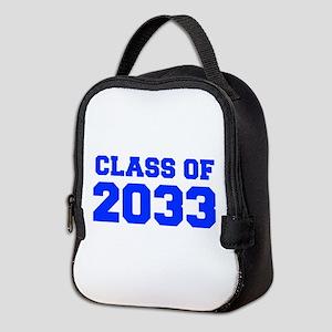 CLASS OF 2033-Fre blue 300 Neoprene Lunch Bag