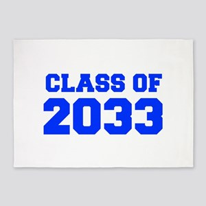 CLASS OF 2033-Fre blue 300 5'x7'Area Rug