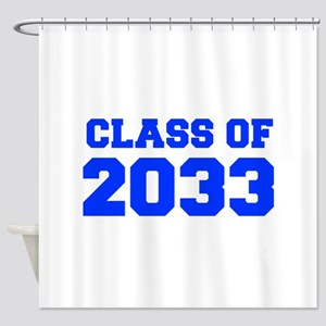 CLASS OF 2033-Fre blue 300 Shower Curtain