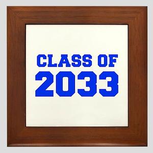 CLASS OF 2033-Fre blue 300 Framed Tile