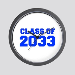 CLASS OF 2033-Fre blue 300 Wall Clock