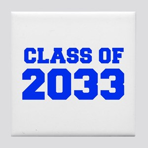 CLASS OF 2033-Fre blue 300 Tile Coaster