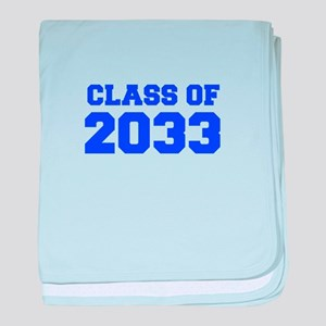 CLASS OF 2033-Fre blue 300 baby blanket