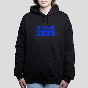 CLASS OF 2033-Fre blue 300 Women's Hooded Sweatshi