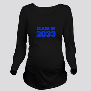 CLASS OF 2033-Fre blue 300 Long Sleeve Maternity T