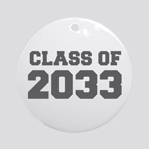 CLASS OF 2033-Fre gray 300 Ornament (Round)