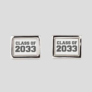 CLASS OF 2033-Fre gray 300 Rectangular Cufflinks