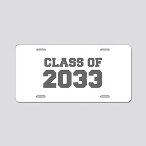 CLASS OF 2033-Fre gray 300 Aluminum License Plate