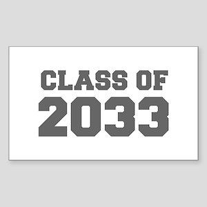 CLASS OF 2033-Fre gray 300 Sticker