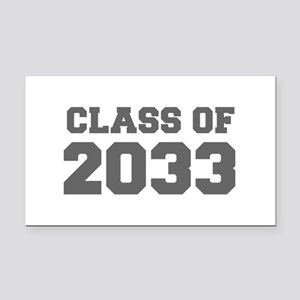 CLASS OF 2033-Fre gray 300 Rectangle Car Magnet