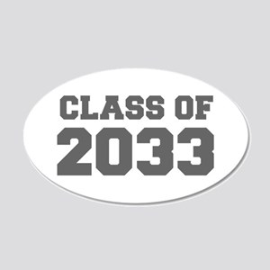 CLASS OF 2033-Fre gray 300 Wall Decal