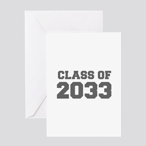 CLASS OF 2033-Fre gray 300 Greeting Cards