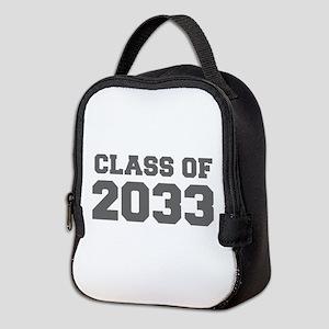 CLASS OF 2033-Fre gray 300 Neoprene Lunch Bag