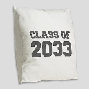 CLASS OF 2033-Fre gray 300 Burlap Throw Pillow