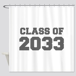 CLASS OF 2033-Fre gray 300 Shower Curtain