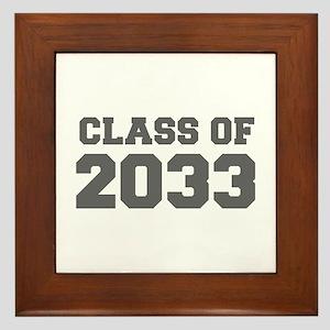 CLASS OF 2033-Fre gray 300 Framed Tile