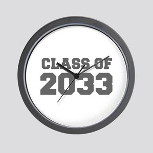 CLASS OF 2033-Fre gray 300 Wall Clock