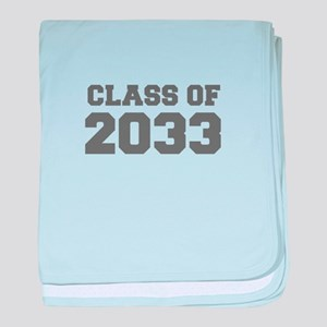 CLASS OF 2033-Fre gray 300 baby blanket