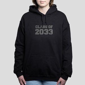 CLASS OF 2033-Fre gray 300 Women's Hooded Sweatshi