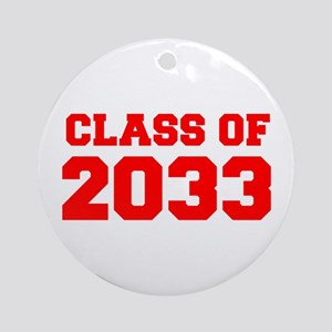 CLASS OF 2033-Fre red 300 Ornament (Round)