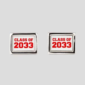 CLASS OF 2033-Fre red 300 Rectangular Cufflinks