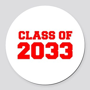 CLASS OF 2033-Fre red 300 Round Car Magnet