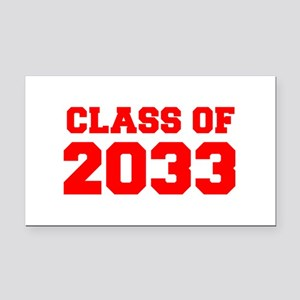 CLASS OF 2033-Fre red 300 Rectangle Car Magnet
